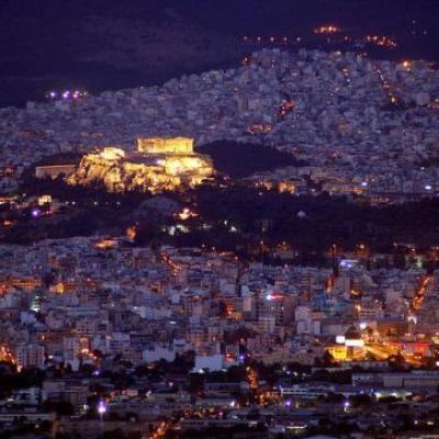 L'Acropole vue du Lycabette
