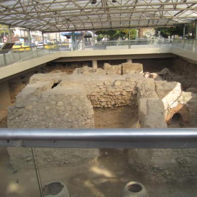 Athènes fouilles dans la ville