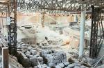 Akrotiri pendant les travaux