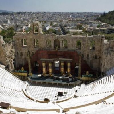 Le Théatre Atticus à l'Acropole d'Athènes-Grèce