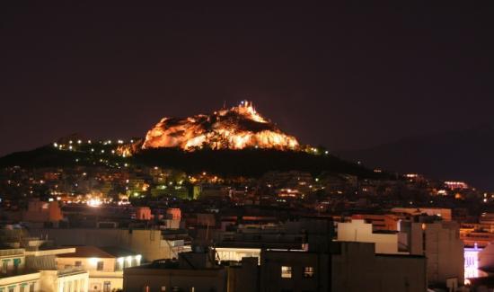 Le Lycabette vu de l'Acropole