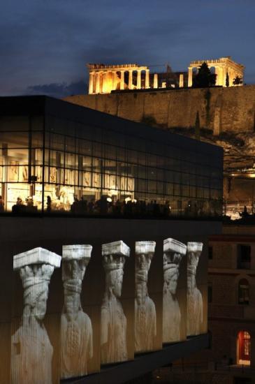 L'Acropole vue du musée de l'Acropole