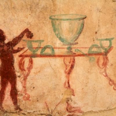 Fresque d'Acrotiri à Santorin