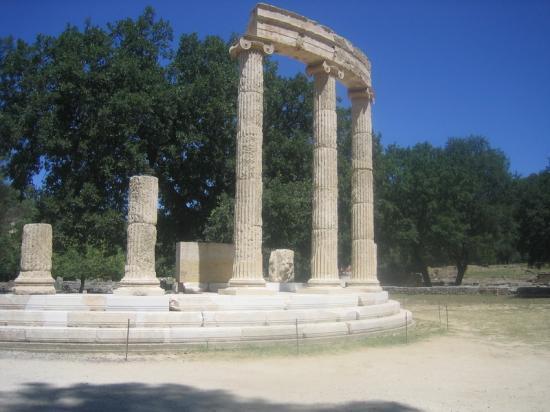 Sur le site d'Olympie-Elia-Grèce
