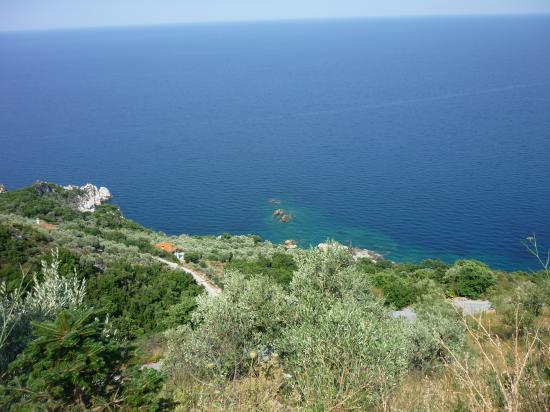Mer Egee vue de Pilion