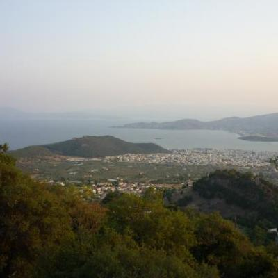 vue panoramique de Volos