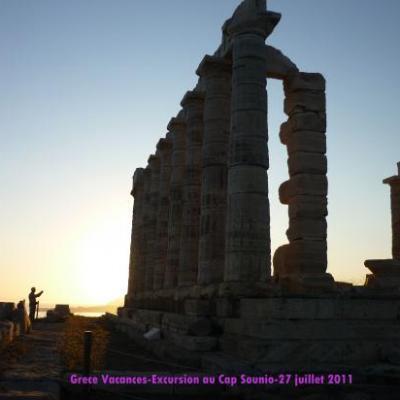 Au soleil couchant... Le Cap Sounio proche d'Athenes-Grèce