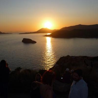 Coucher de soleil au Cap Sounio