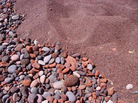 Du sable... de toutes les couleurs... Santorin-Cyclades-Grèce