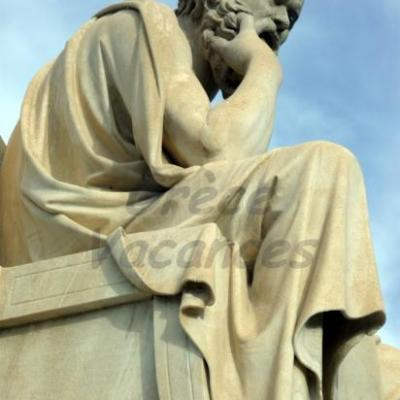 Socrate-Académie d'Athènes-Grèce