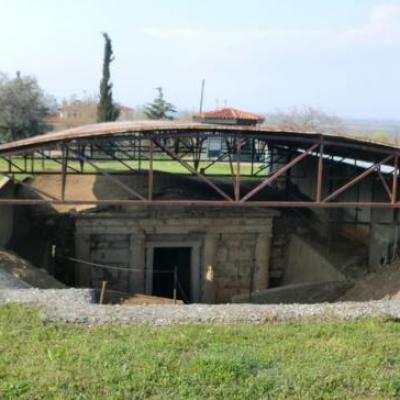 Vergina - tombeau de Philippos de Macedoine