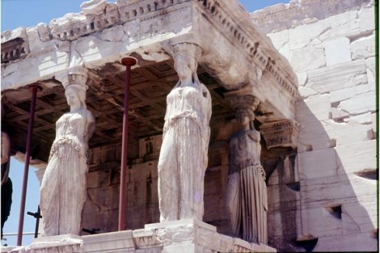 les cariatides de l'Acropole