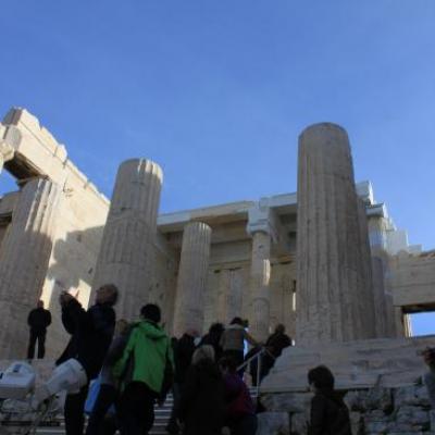Les Propilés de l'Acropole-Athènes-Grèce