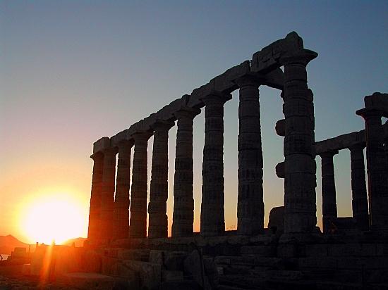 Coucher de soleil... des merveilles... au Cap Sounio-Grèce