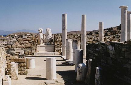 Site de Delos-Mykonos-Cyclades-Grèce