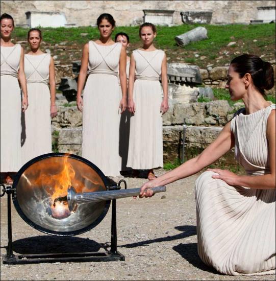 Flame à Olympie