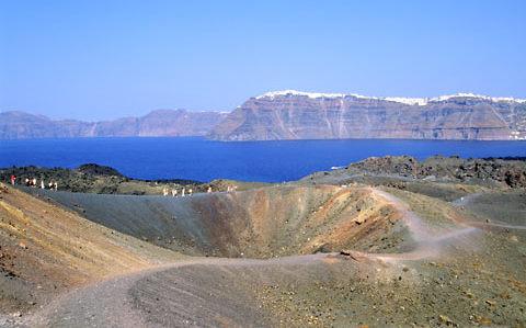 Le volcant de Santorin