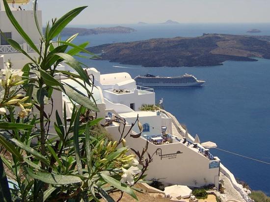 Vue sur la caldira-Santorin-Grèce