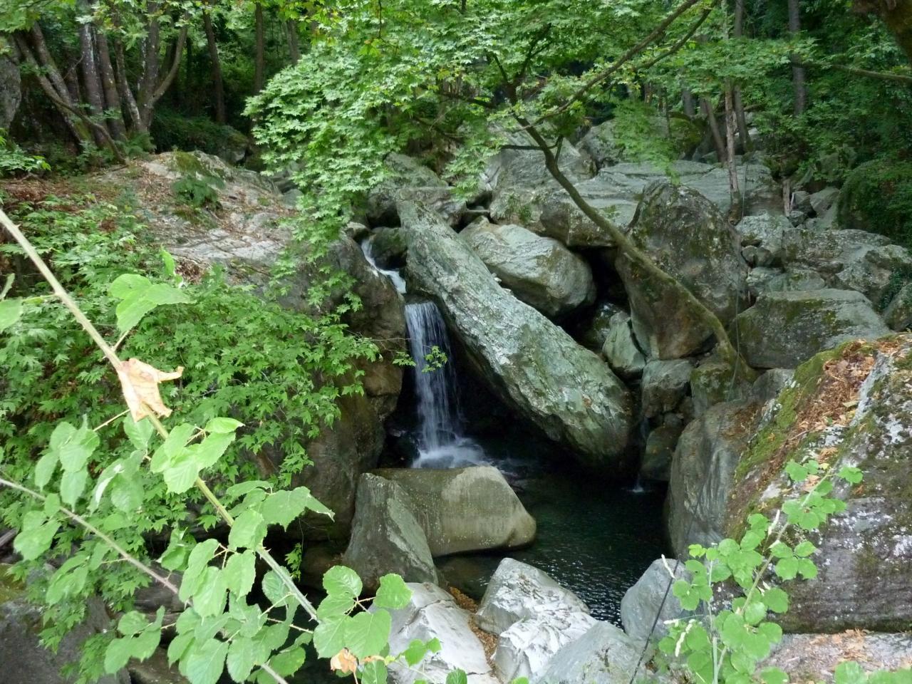 Source dans le mont Pilio