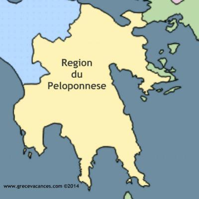 Carte region du peloponnese