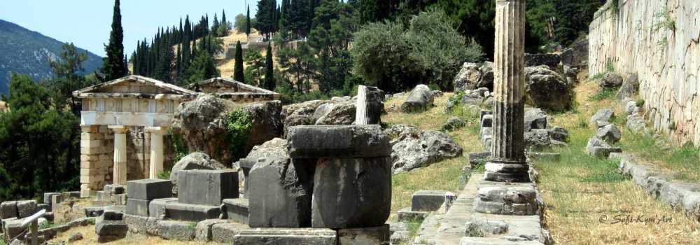 Delphes le site Archéologique