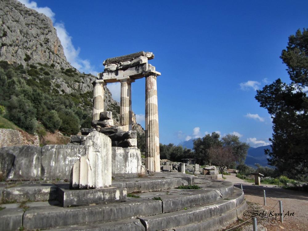 Delphes la tholos site Marmaria