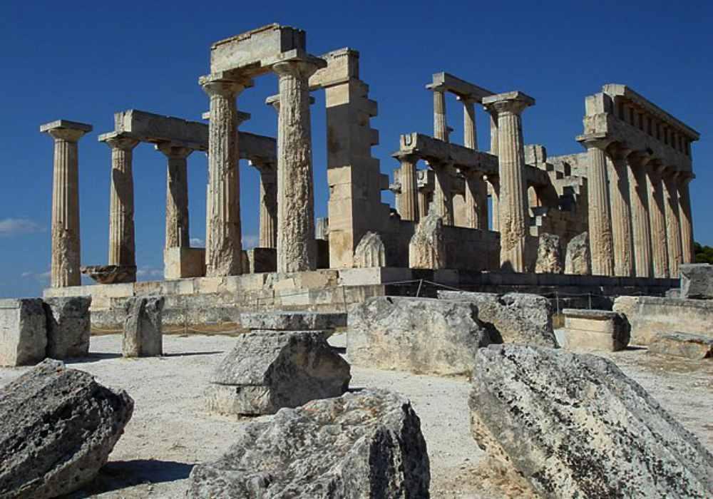 Egine temple d athena aphaia