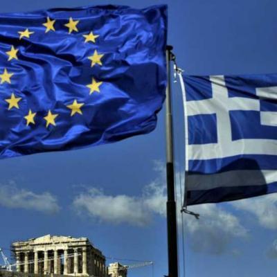 Europe Drapeau Grec & Europe