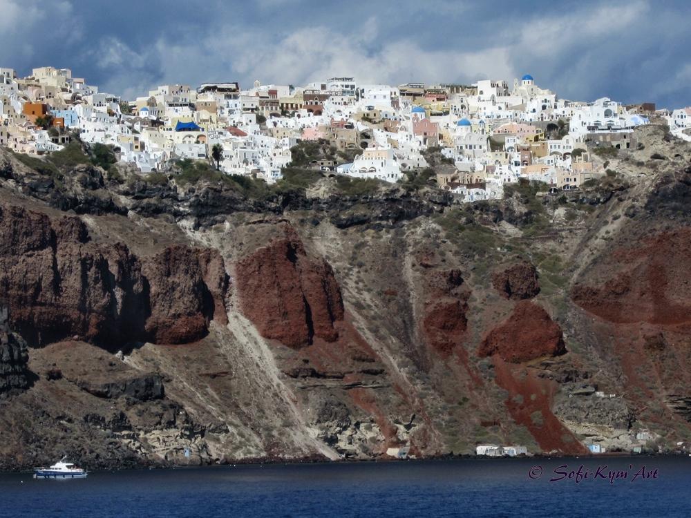 Vue de Santorin