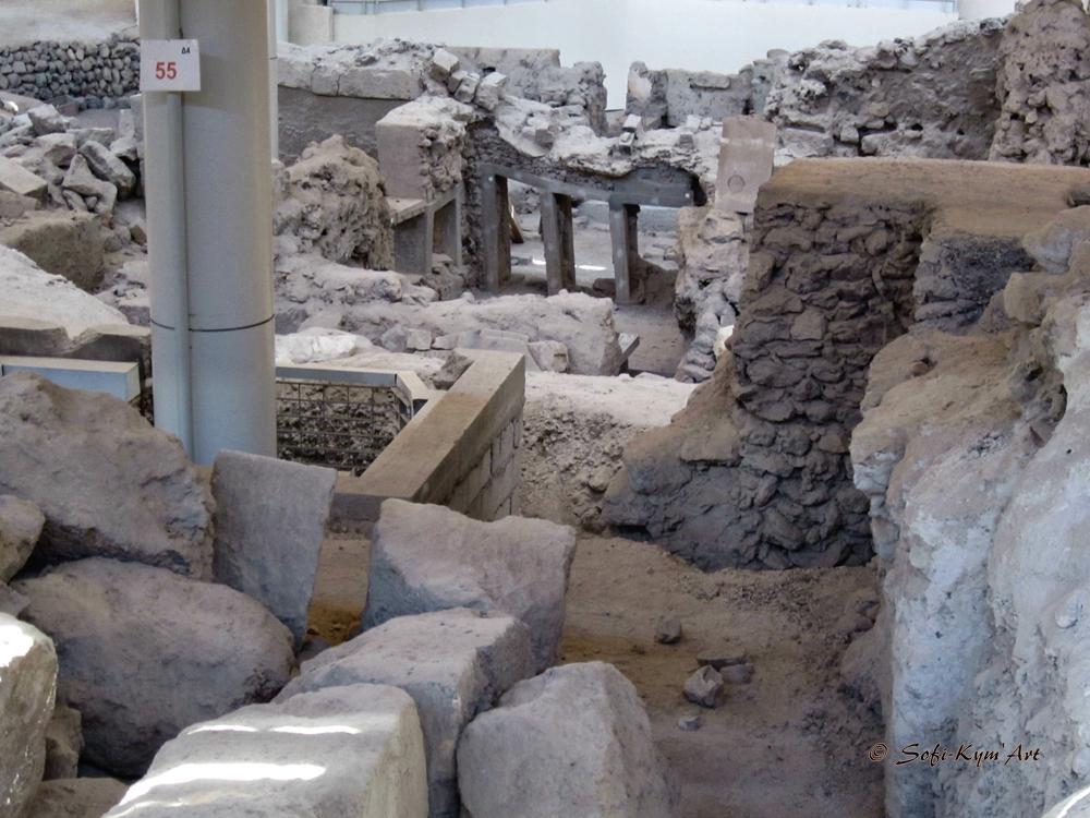 Santorin-site archéologique d'Akrotiri