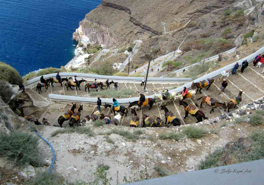 Chemin muletier - Santorin